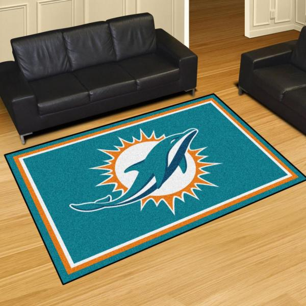 Fanmats Miami Dolphins 5 Ft X 8
