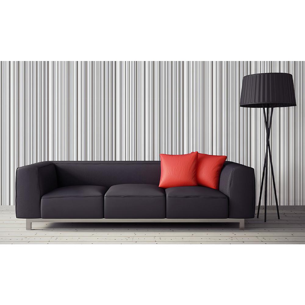 56.4 sq. ft. Martinez Black Striped Wallpaper