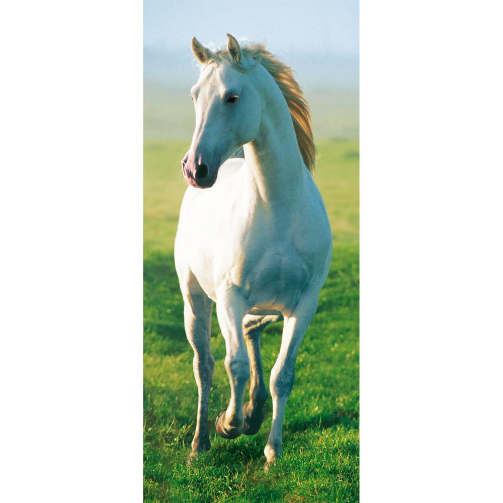 Ideal Decor 79 In. X 34 In. White Horse Wall Mural Part 63