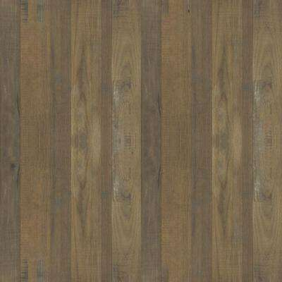5 in. x 7 in. Laminate Countertop Sample in Salvage Planked Elm with Natural Grain Finish