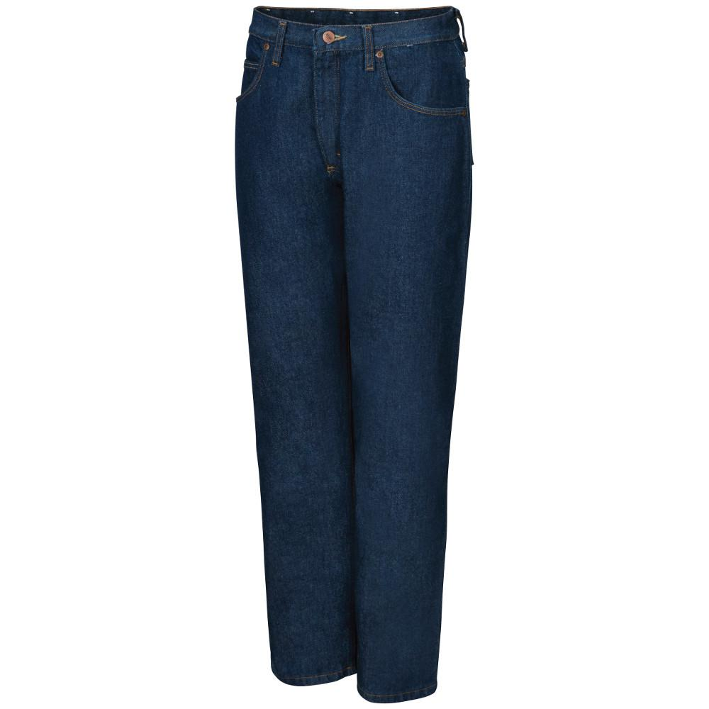 8b62b5e0e37 Red Kap Men's Size 35 in. x 34 in. Prewashed Indigo Relaxed Fit Jean ...