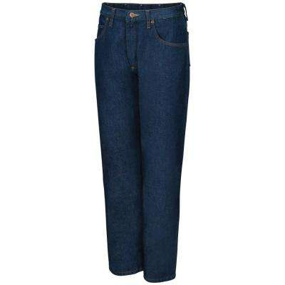 Men's Size 34 in. x 32 in. Prewashed Indigo Relaxed Fit Jean