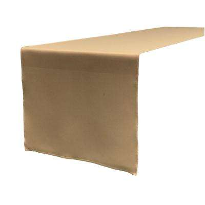14 in. x 108 in. Taupe Polyester Poplin Table Runner