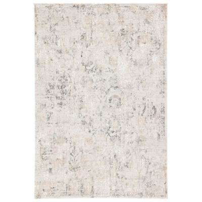 Cirque Gray 10 ft. x 14 ft. Floral Rectangle Area Rug