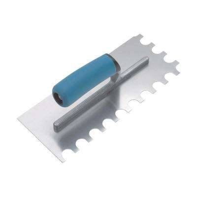 SuperiorBilt ProBilt Series 1/4 in. x 3/8 in. x 1/4 in. U-Notch Trowel