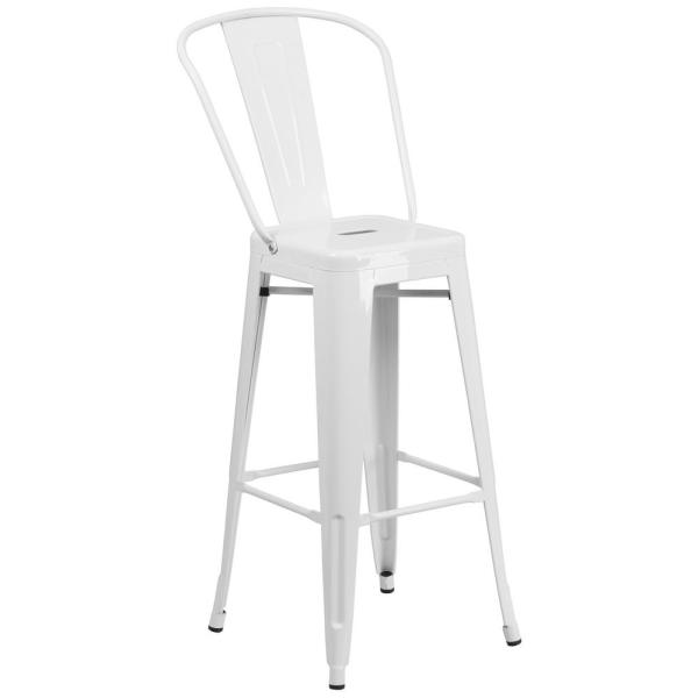 Flash Furniture 30.25 in. White Bar Stool CH3132030GBWH