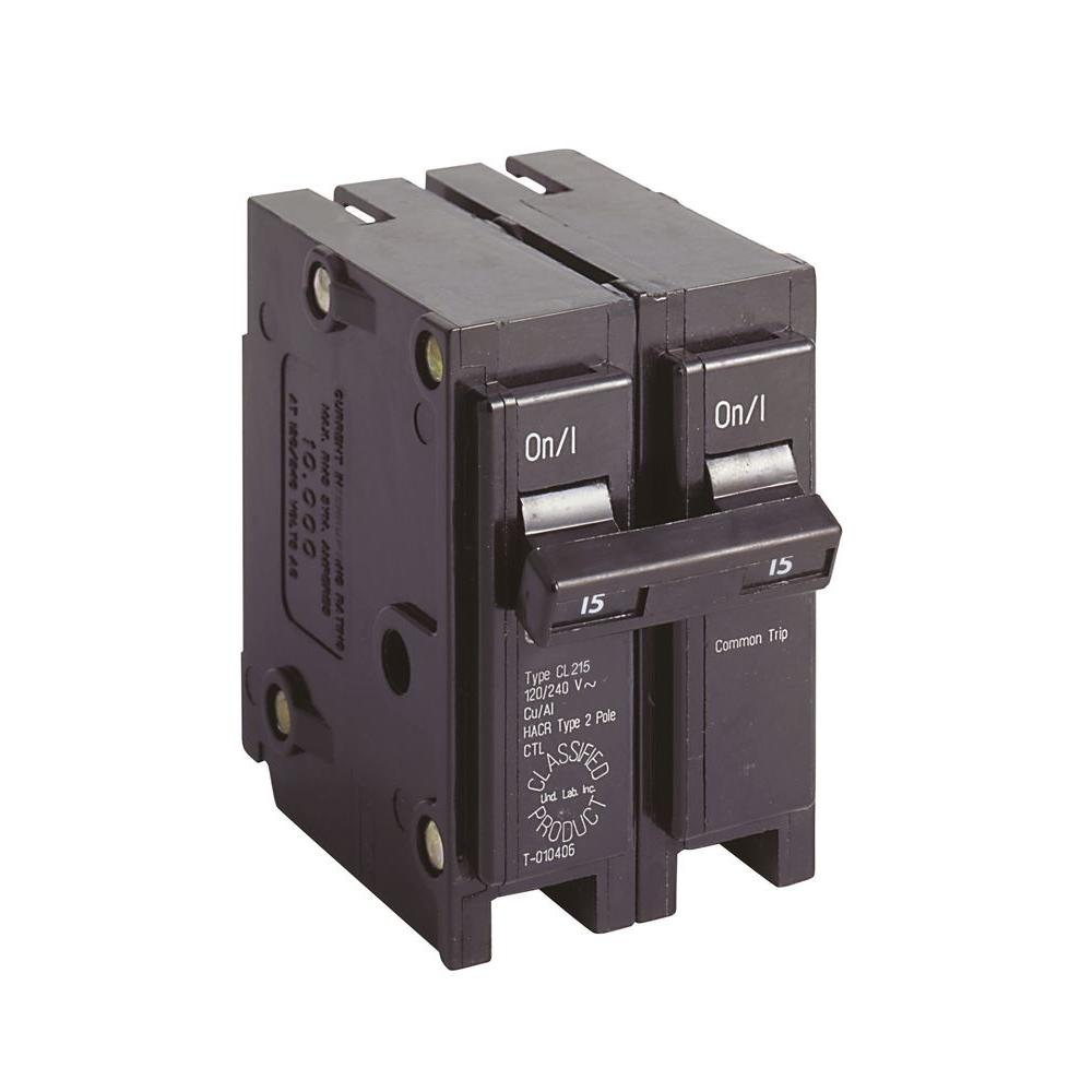 Eaton CL 15 Amp 2-Pole Circuit Breaker-CL215 - The Home Depot