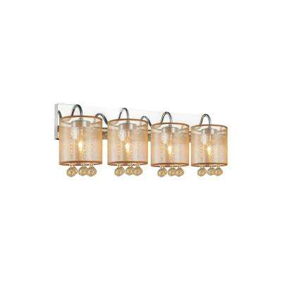 Radiant 4-Light Chrome Sconce
