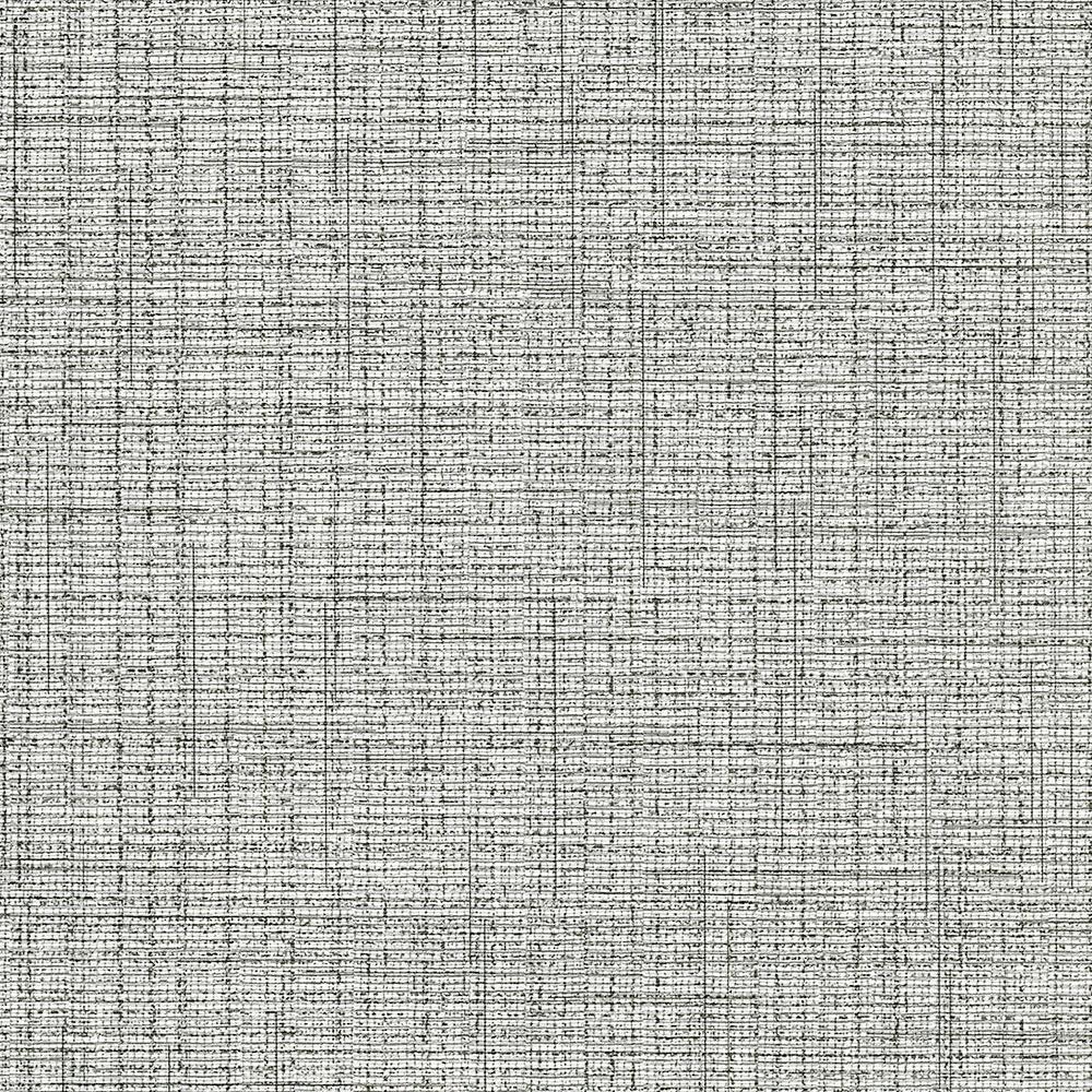 undefined 8 in. x 10 in. Solitaire II Black Tweed Wallpaper Sample
