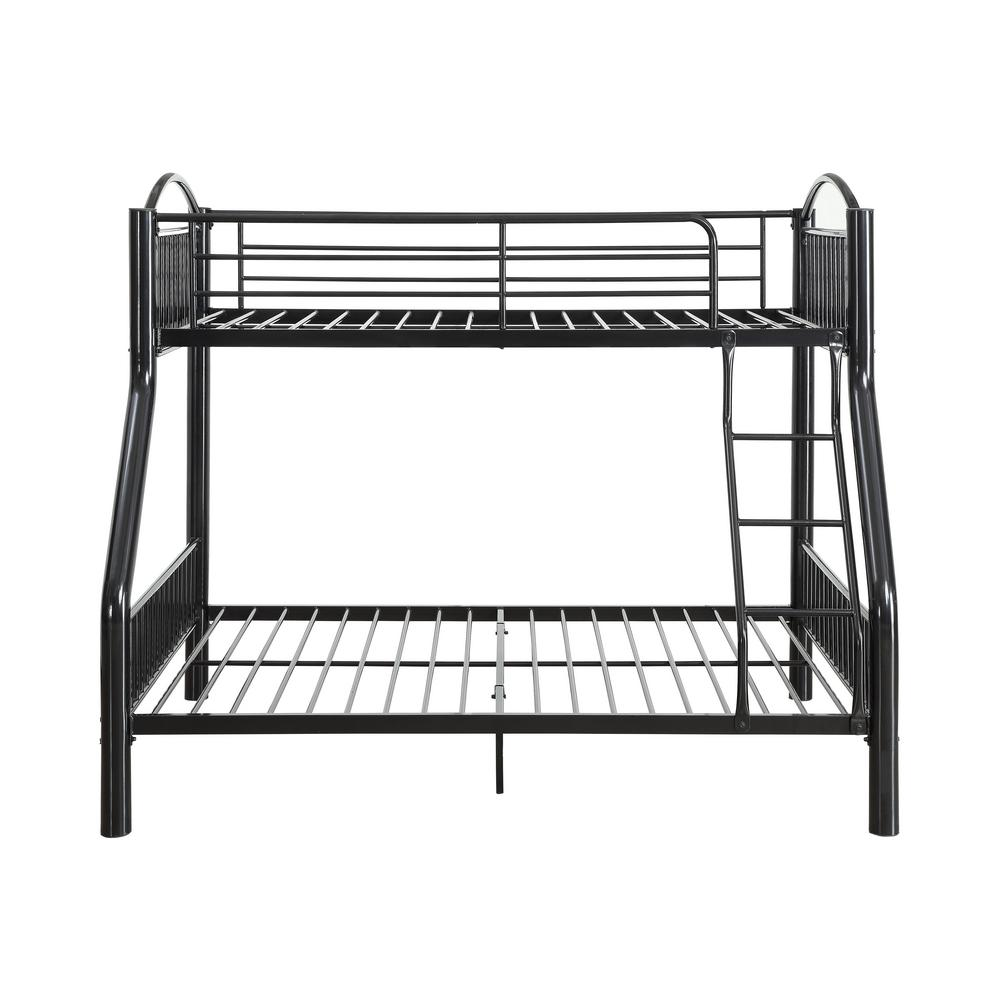 Acme Furniture Cayelynn Black Twin Over Full Bunk Bed 37380bk The