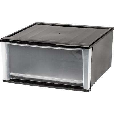 20.59 in. x 10.24 in. Black Quart Stacking Drawer (2-Pack)