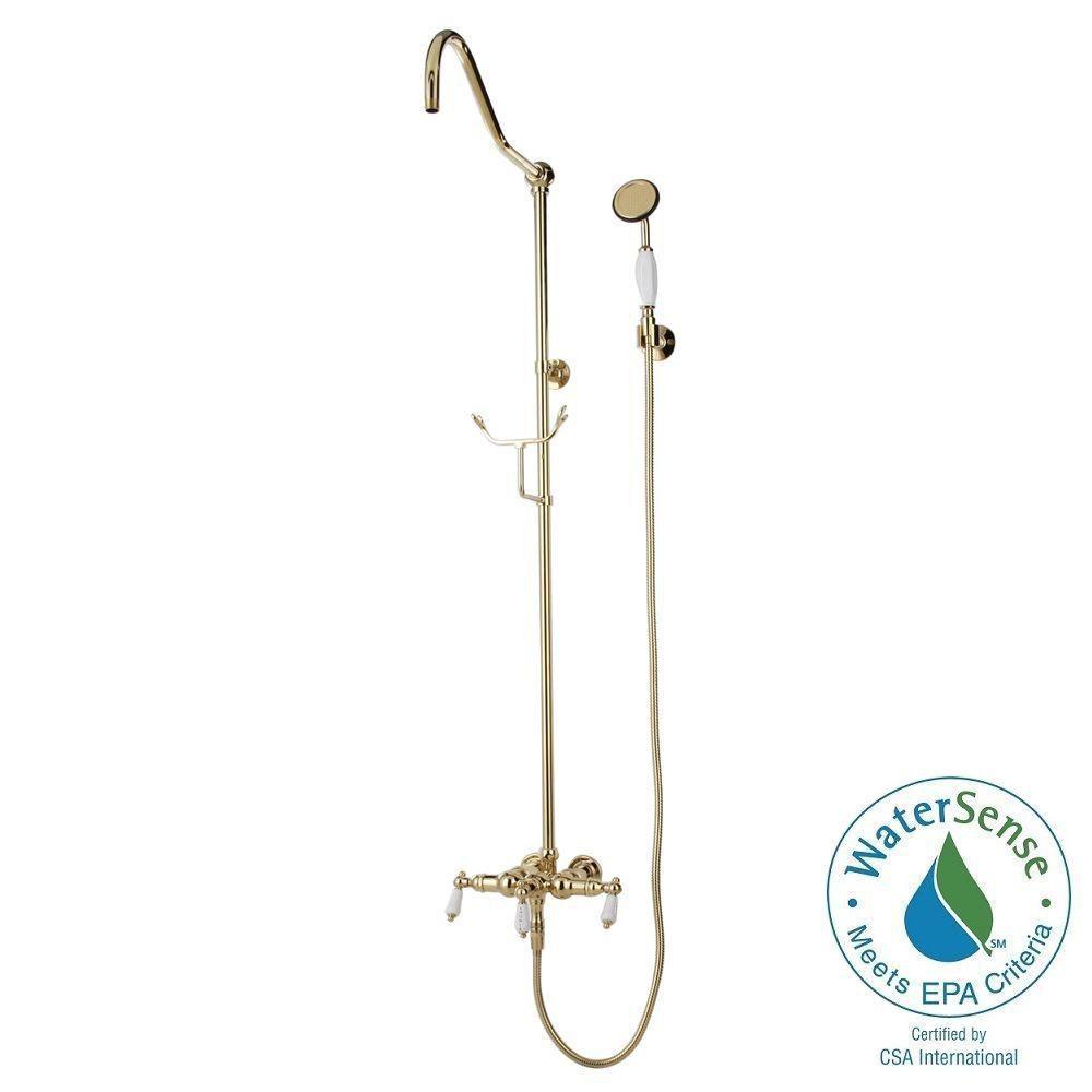 Elizabethan Classics 1-Spray Hand Shower and Showerhead Combo Kit ...
