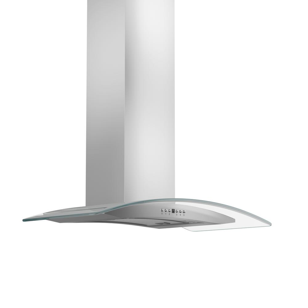 Zline Kitchen And Bath Zline 36 In. 760 Cfm Wall Mount Range Hood In Stainless Steel, Brushed 430 Stainless Steel