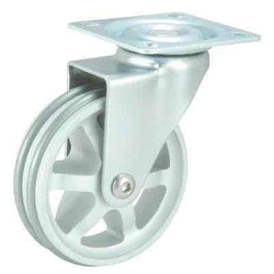 2-15/16 in. Aluminum Swivel Without Brake Plate Caster, 99.2 lb. Load Rating