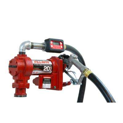12-Volt 1/4 HP 20 GPM Fuel Transfer Pump with Meter Package (Digital)
