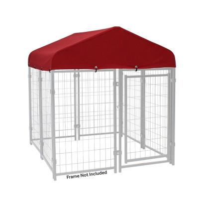 4 ft. x 4 ft. Kennel Cover With Sunbrella Fabric - Firehouse Red