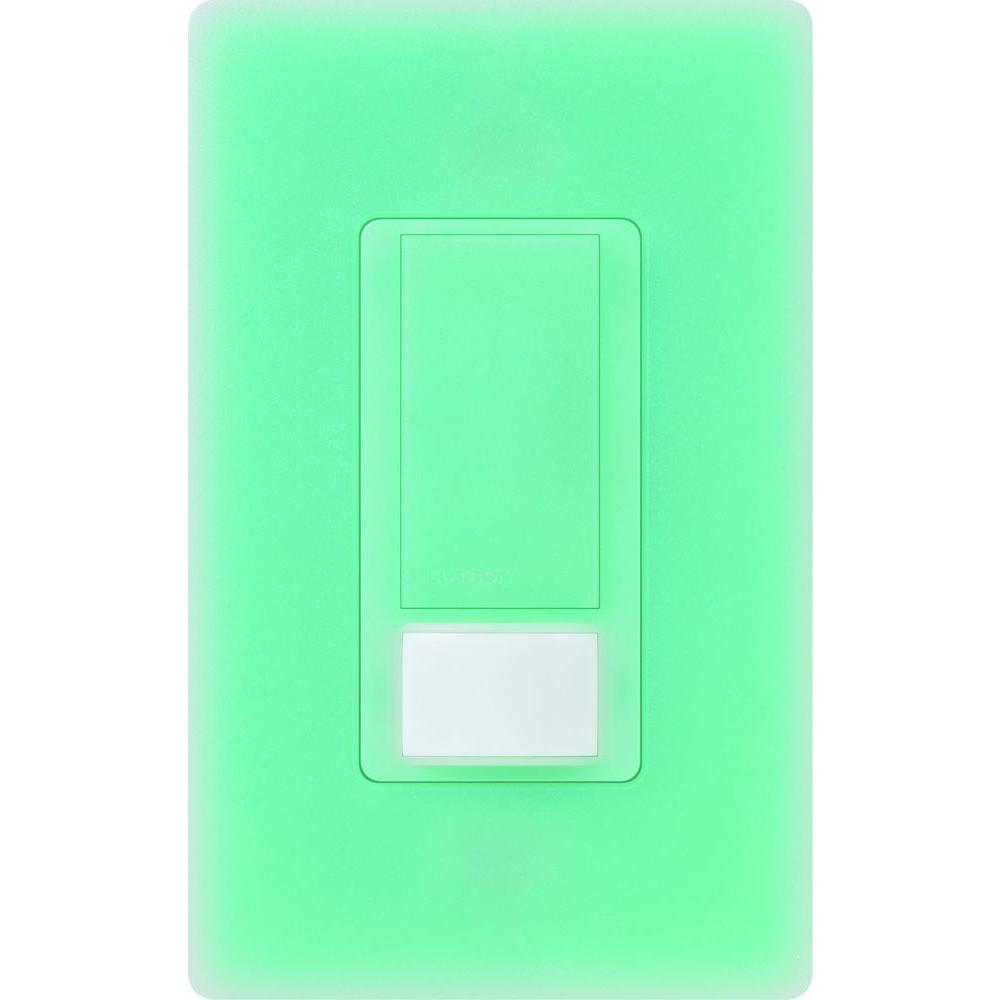 Lutron Maestro Vacancy Sensor switch, 5-Amp, Single-Pole or Multi-Location, Sea Glass