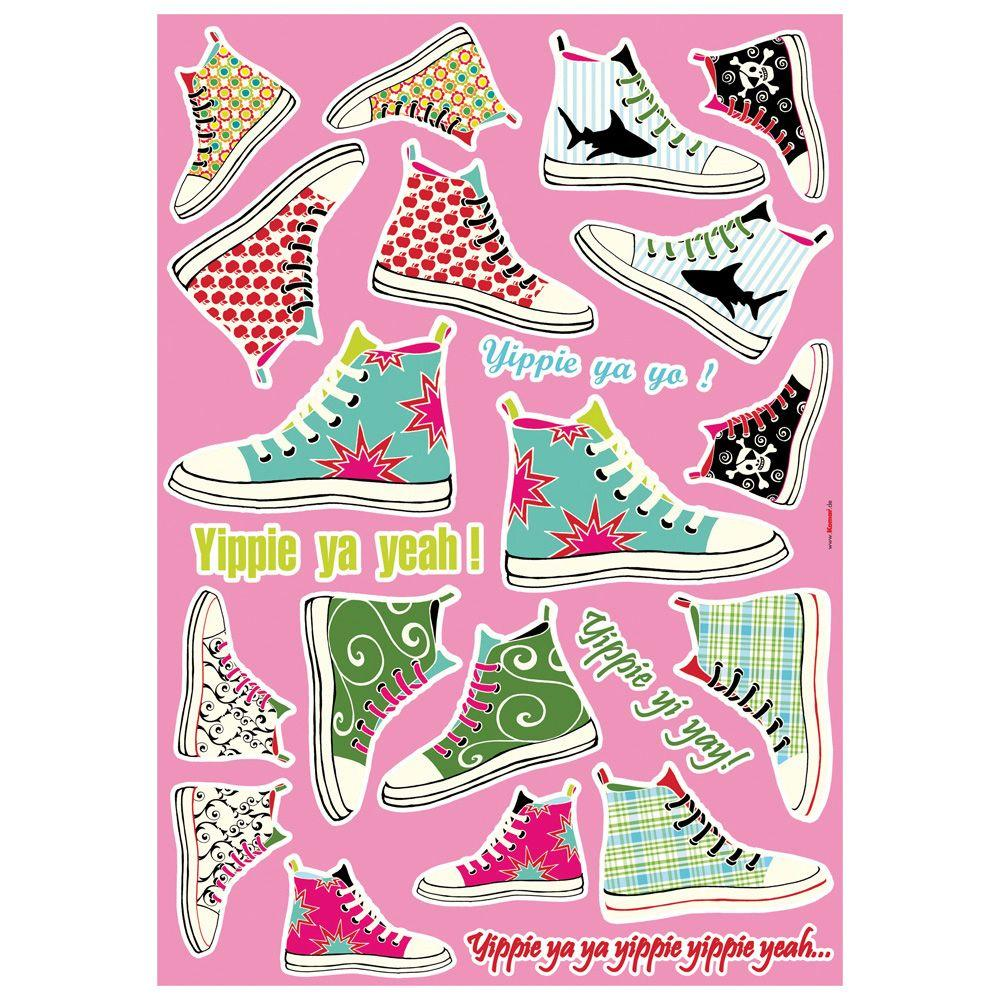 Freestyle 19 in. x 27 in. Sneakers Wall Decal