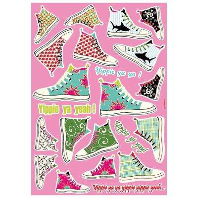 19 in. x 27 in. Sneakers Wall Decal