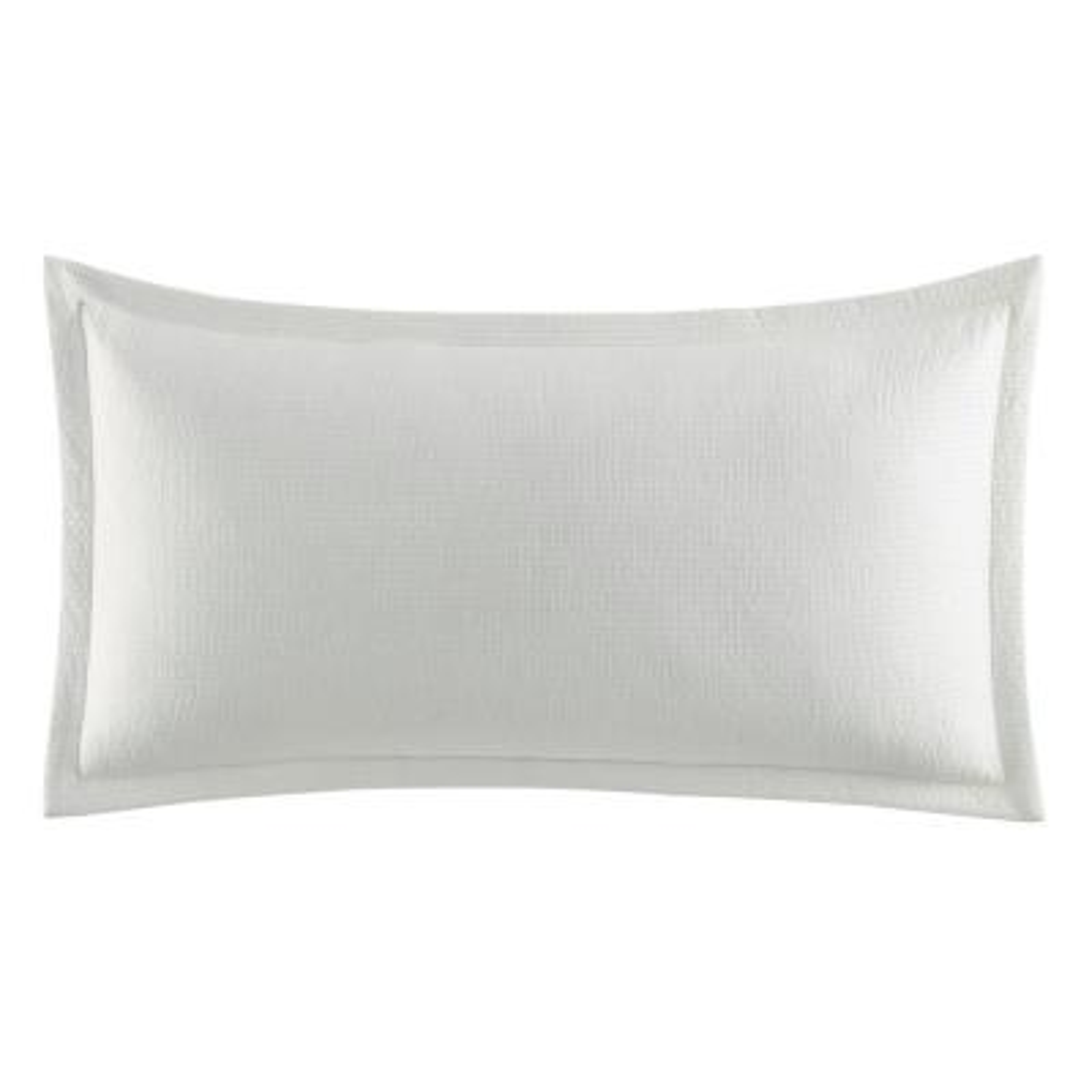 Wilton White Cotton Blend 14 in. x 26 in. Breakfast Pillow