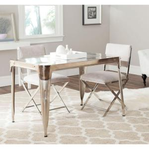 Safavieh Weston Dark Antique Silver Dining Table-FOX7204A - The ...