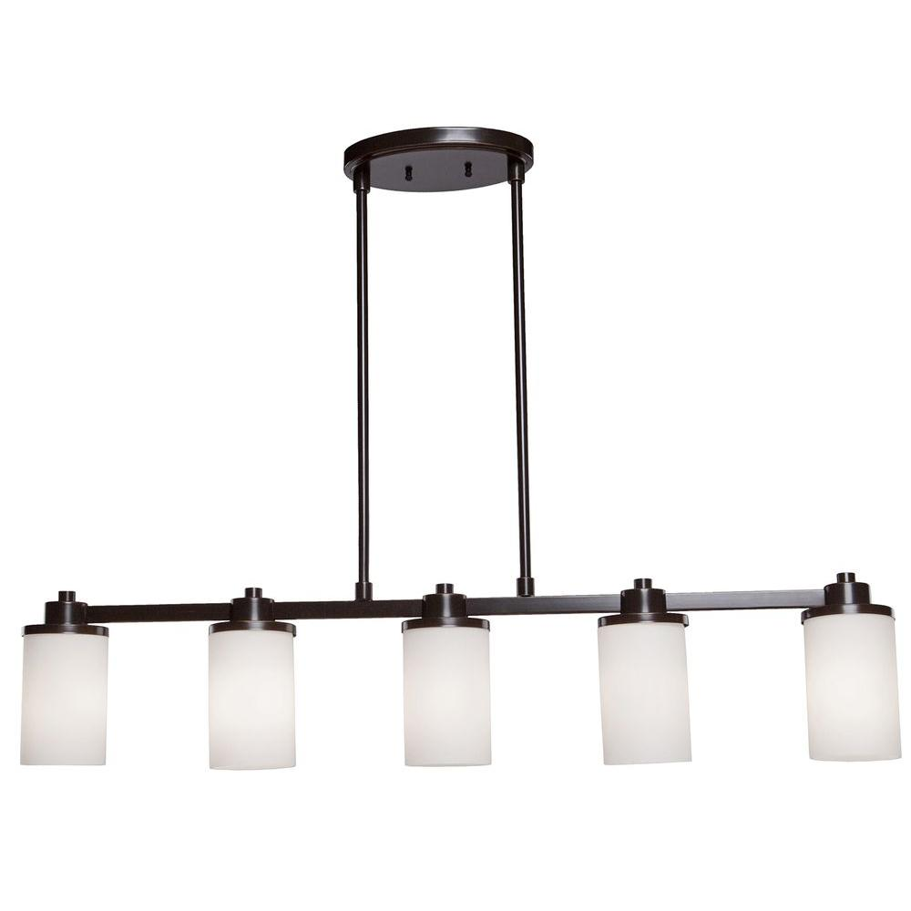 Archieroy 5-Light Oil-Rubbed Bronze Island Light
