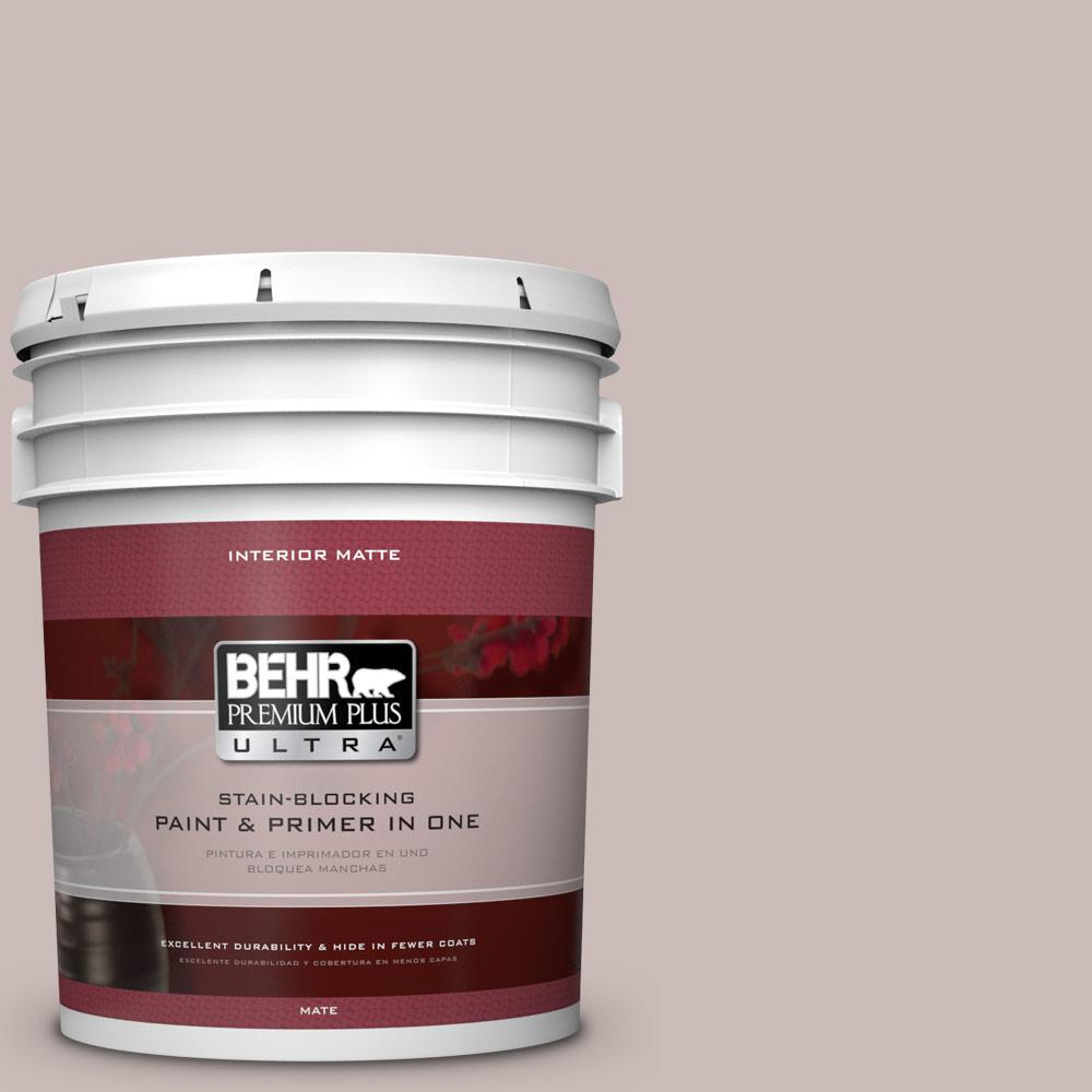 5 gal. #750A-3 Vintage Taupe Flat/Matte Interior Paint