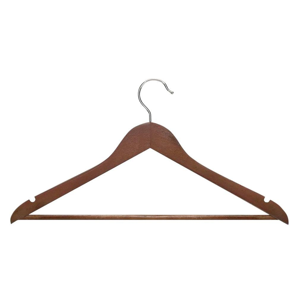 Basic Suit Cherry Hanger with Non-Slip Bar (8-Pack)