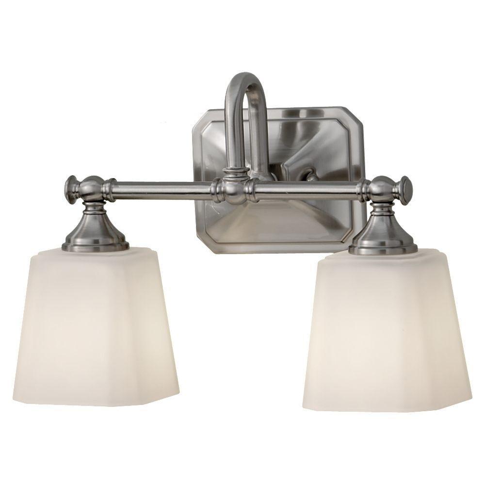 Concord 2-Light Brushed Steel Vanity Light