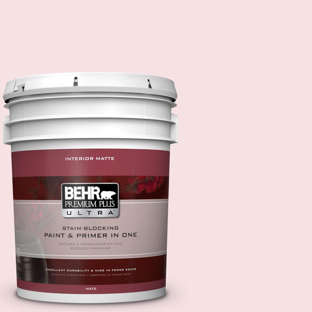 5 gal. #140A-1 Strawberry Yogurt Flat/Matte Interior Paint
