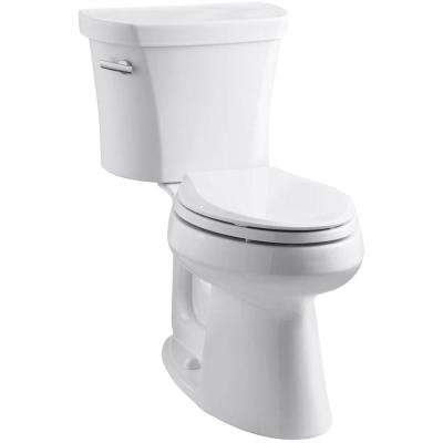 Highline 14 in. Rough-In 2-Piece 1.28 GPF Single Flush Elongated Toilet in White, Seat Not Included