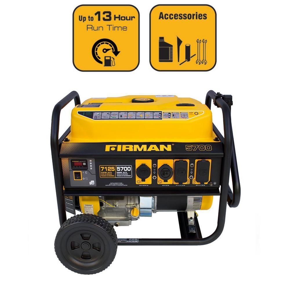 7100/5700-Watt 120/240V Recoil Start Gas Portable Generator