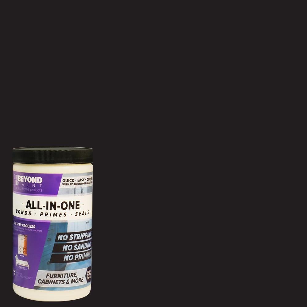 Beyond Paint 1 Qt. Licorice Furniture, Cabinets and More Multi-Surface All-in-One Interior/Exterior Flat Refinishing Paint