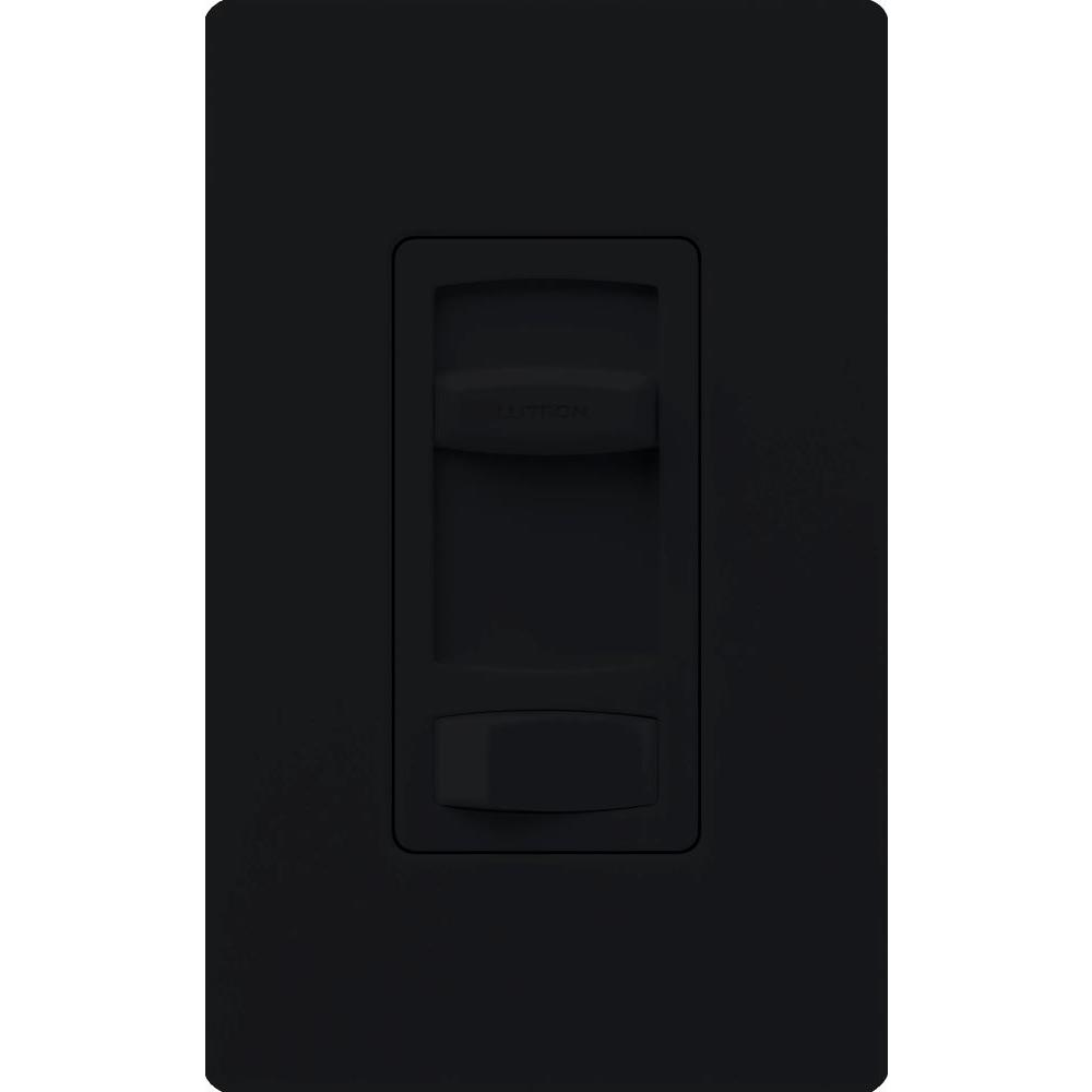 Lutron Skylark Contour 1.5-Amp Single-Pole/3-Way Quiet 3-Speed Slide-to-Off Fan Control - Black
