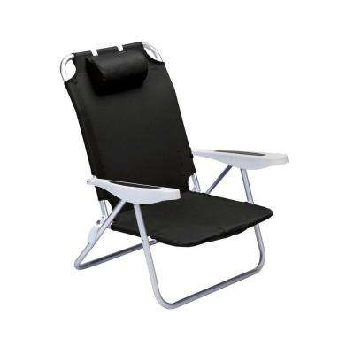 Black Monaco Beach Patio Chair