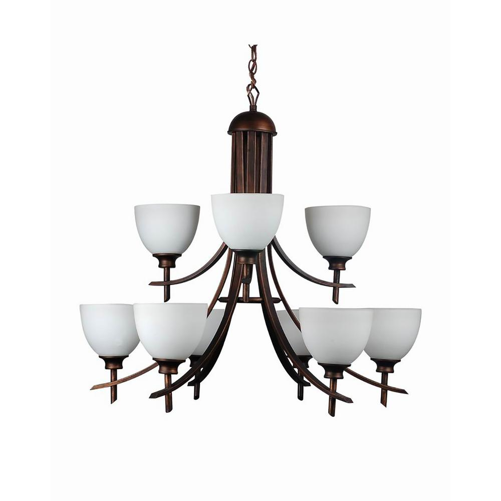 Cambridge 9-Light Oil-Rubbed Bronze Chandelier With Etched