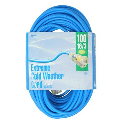 100 ft. 16/3 SJTW Cold Weather Outdoor Light-Duty Extension Cord