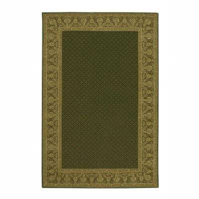 Lichi Dark Green 5 ft. 3 in. x 8 ft. 3 in. Area Rug