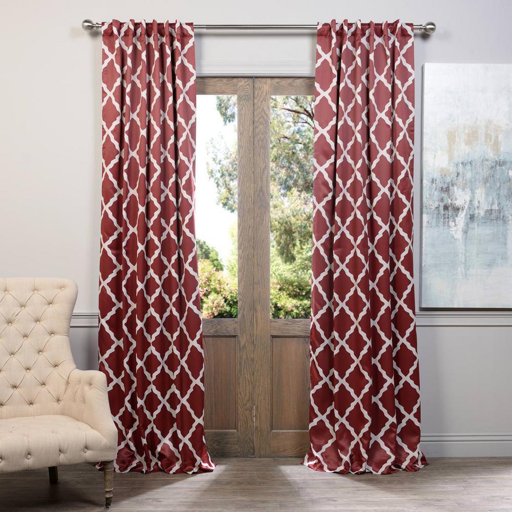 Semi-Opaque Trellise Blackout Curtain - 50 in. W x 108 in. L (Panel)