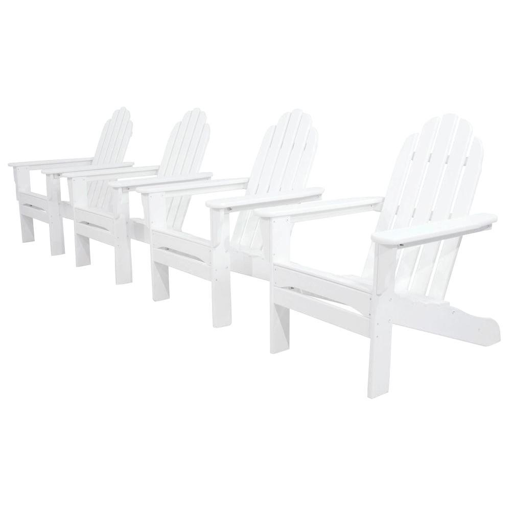 Ivy Terrace Classics White 4-Piece Patio Adirondack Set