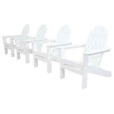 Classics White 4-Piece Patio Adirondack Set