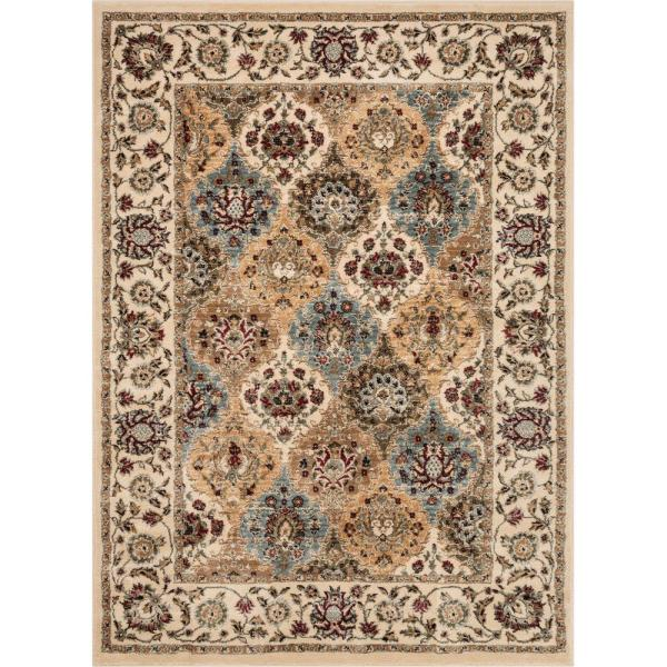 Well Woven Aurora Mia Traditional Oriental Ivory 5 Ft 3 In X 7 Ft 3 In Area Rug Au 112 5 The Home Depot