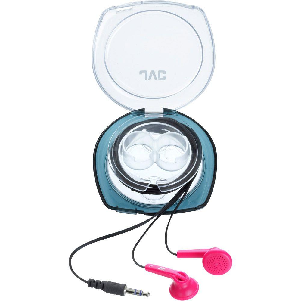 JVC In-Ear Headphones with Case - Pink-DISCONTINUED