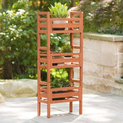 20 in. W x 48 in. H Wooden Stacking Plant Stand
