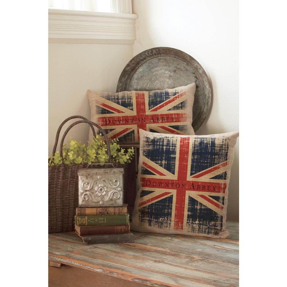 Downton Union Jack Natural Union Jack Decorative Pillow