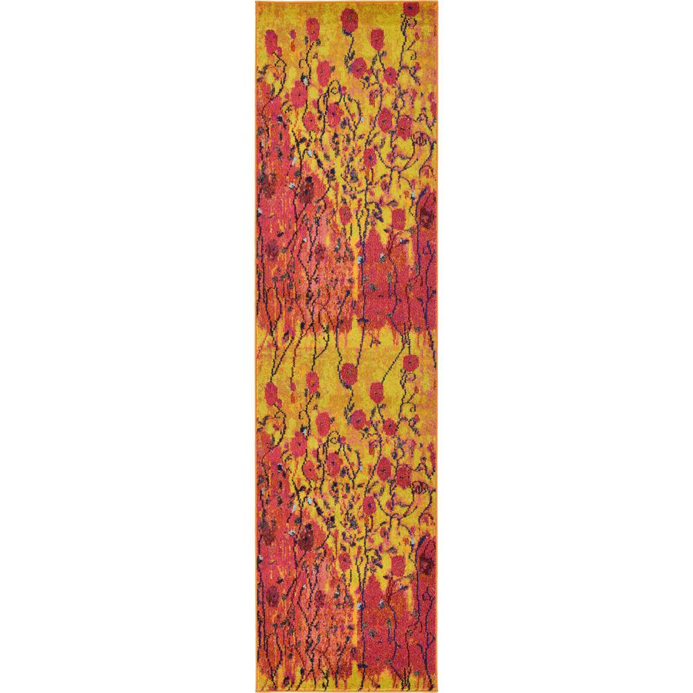 Estrella Symphonia Yellow 2' 7 x 10' 0 Runner Rug