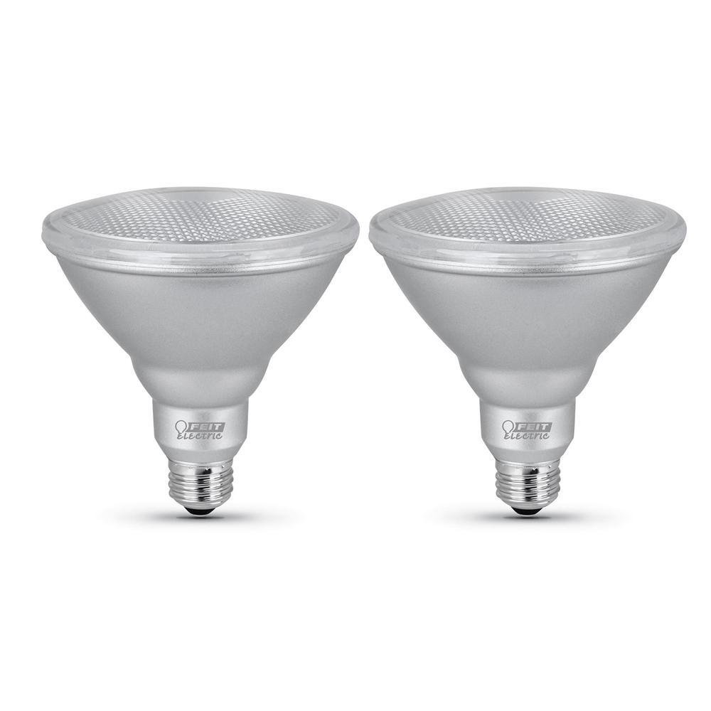 90-Watt Equivalent PAR38 Dimmable CEC Title 24 Compliant LED ENERGY STAR 90+ CRI Flood Light Bulb, Bright White (2-Pack)