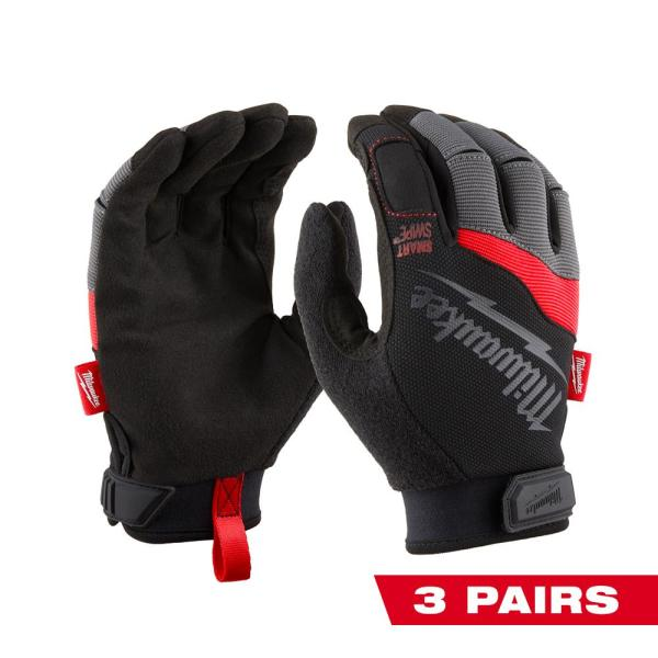 Large Performance Work Gloves (3-Pack)