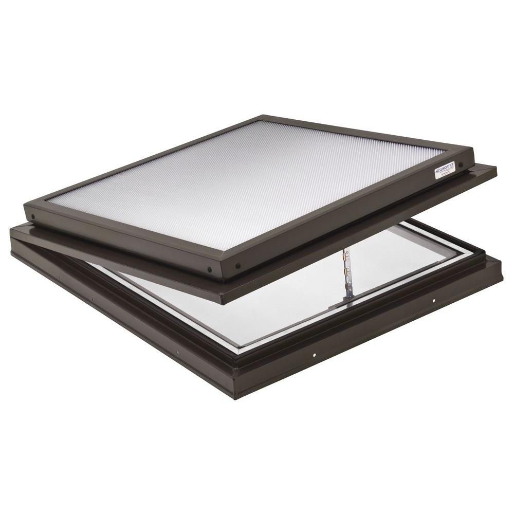 Prismatic 2 ft. x 2 ft. Venting Curb-Mounted Flat Skylight