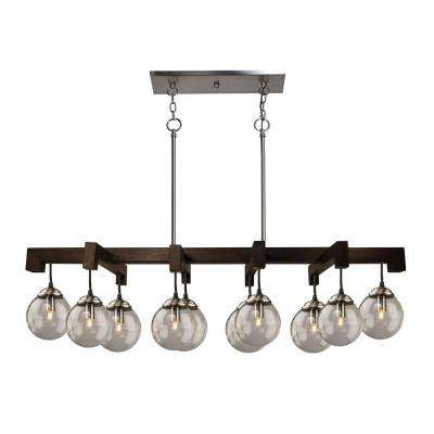 10 Light Deep Expresso Brown Billiard Light
